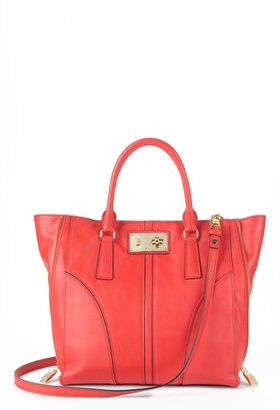 Milly Handbags - Black or Vermillion Nina Nappa Leather Satchel