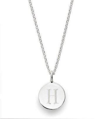 Sarah Chloe Sterling Silver Engraved H on 16 inch Cable Chain