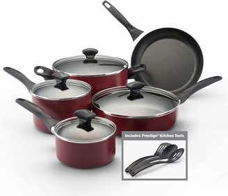 Farberware red 12-pc. cookware set