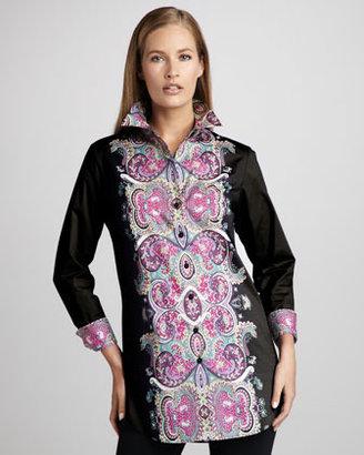 Go Silk Classic Printed Blouse