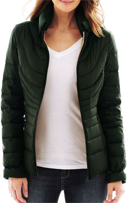 JCPenney A.N.A a.n.a Packable Duck Down Puffer Jacket