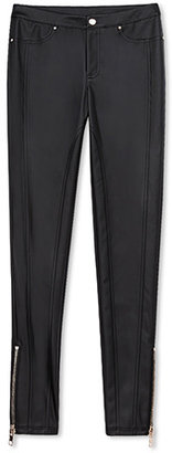 Forever 21 Tough Girl Faux Leather Skinny Pants