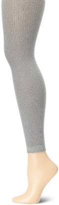 Jessica Simpson Women's Ribbed Lurex Footless Sweater Tight Socks