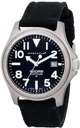 Momentum Men's 1M-SP00B6B Atlas Titanium Watch with Black Canvas Band