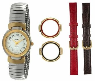 Peugeot Watches Women's Two-tone Interchangeable Strap Bezel Watch Set
