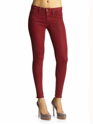 Hudson Jeans Mid Rise Super Skinny Coated Jeans