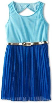 Ruby Rox Girls 7-16 Pleated Skirt Color Block Dress