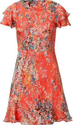 Paul & Joe Tangerine Multicolor Floral Print Dress