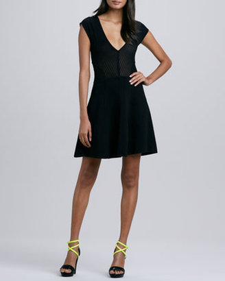 French Connection Downtown Dani Fit-and-Flare Dress