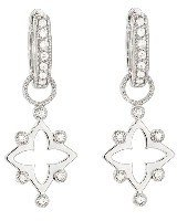 Jude Frances Open Flower Earring Charms - White Gold