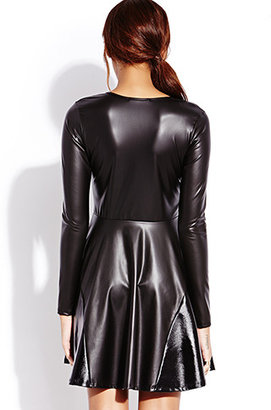 Forever 21 Street Chic Faux Leather Dress