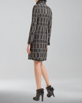 Akris Punto Tribal Jacquard-Print Shift Dress