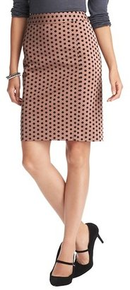 LOFT Tall Polka Dot Print Pencil Skirt in Bi-Stretch