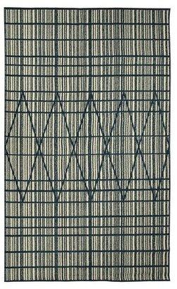 Threshold Outdoor Rug - Diamond Grid Blue