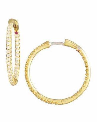Roberto Coin Pave Diamond Hoop Earrings