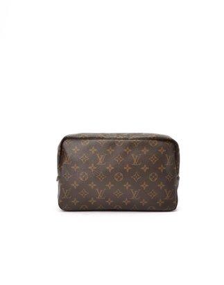 Louis Vuitton Pre-Owned: brown monogram canvas 'Trousse Toilette 28' pouch