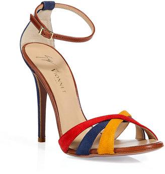 Vionnet Multicolor suede sandals