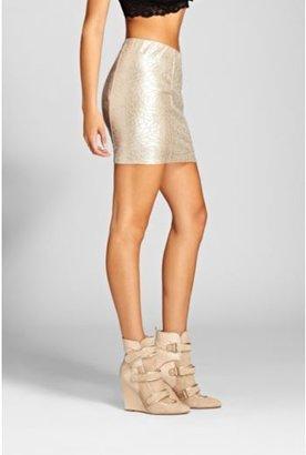 GUESS Gold Floral Shimmer Skirt