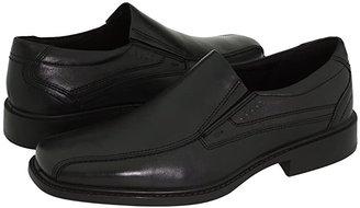 Ecco New Jersey Slip-On (Black Santiago Full-Grain Leather) Men's Slip-on Dress Shoes