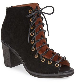 Women's Jeffrey Campbell 'Cors' Suede Peep Toe Bootie $164.95 thestylecure.com