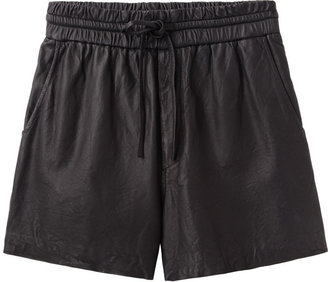 Helmut Lang HELMUT leather shorts