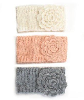 American Rag Headband, Flower Ribbed Knit Ear Warmer