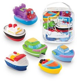 Elegant Baby Boat Party Squirties Bath Toys - Ages 6 Months+