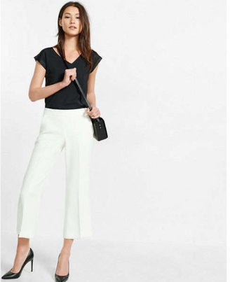 Express Silky V-neck Rolled Sleeve Blouse $39.90 thestylecure.com
