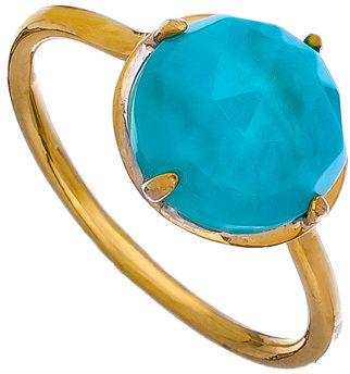 KiraKira Gold and Turquoise Gemma Ring