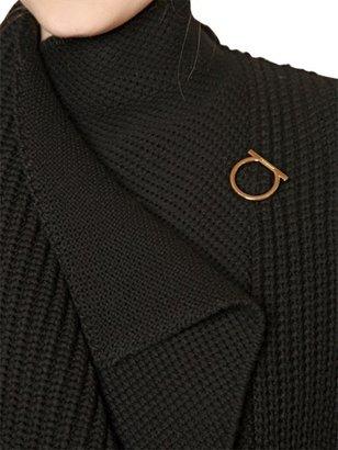 Salvatore Ferragamo Textured Wool Knit Coat