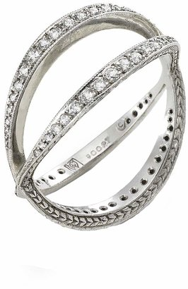 Cathy Waterman Infinity Band - Designer Platinum Ring