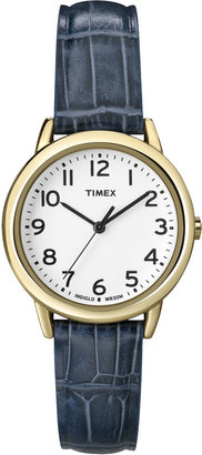 Timex Womens Croc-Embossed Leather Strap Watch $54.95 thestylecure.com