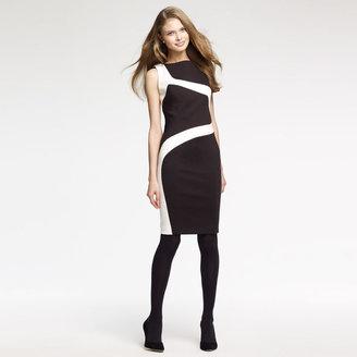 Anne Klein Swirled Color block Ponte Dress