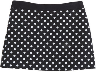 Milly Minis Polka-Dot Miniskirt, Black