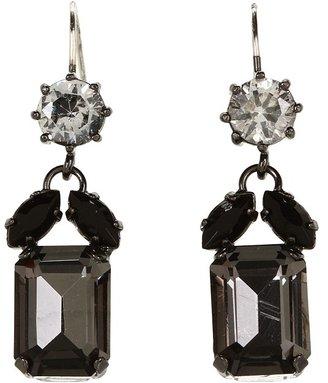 Juicy Couture Punk Rocks Triple Linear Drop Earring (Jet) - Jewelry
