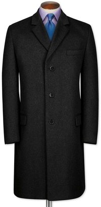 Charles Tyrwhitt Classic fit charcoal wool and cashmere overcoat