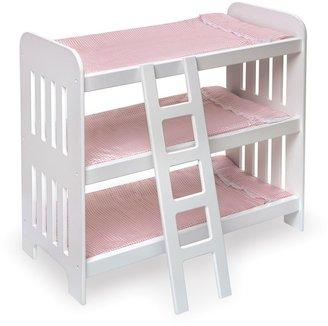Badger Basket Triple Doll Bunk Bed