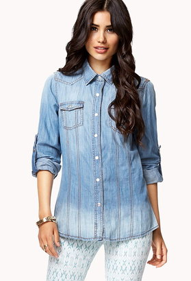 Forever 21 Life In Progress™ Chambray Shirt