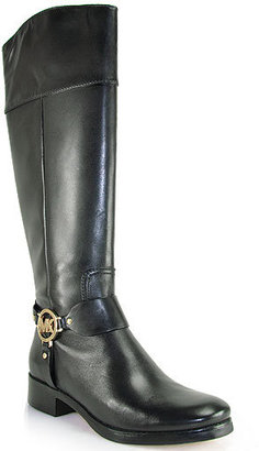 Michael Kors Michael by Fulton Harness - Black Leather Flat Boot