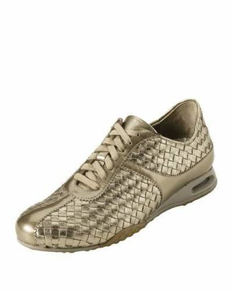 Cole Haan Air Bria Woven Oxford, Vintage Silver $150 thestylecure.com