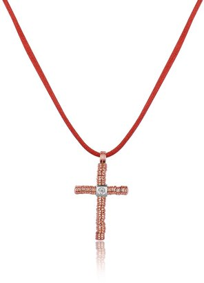 Torrini Round Passion - Diamond 18K Rose Gold Cross Pendant