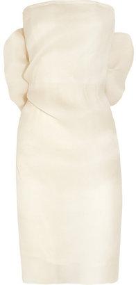 Lanvin Bow-embellished silk-gazar dress