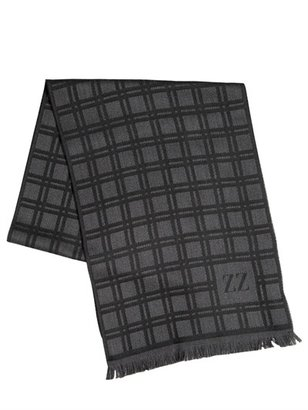 Z Zegna Wool Checked Scarf