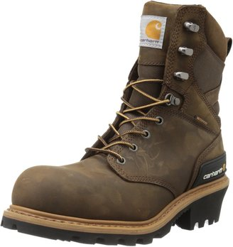 "Carhartt Men's 8"" Waterproof Composite Toe Leather Logger Boot CML8360"