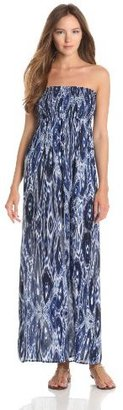 Velvet by Graham & Spencer Women's Trinand Ikat Strapless Maxi Dress