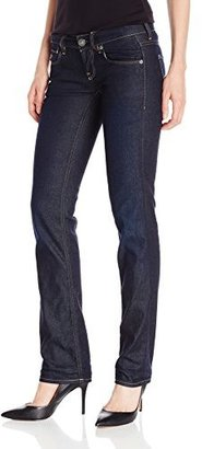 G Star Women's 3301 Straight Comfort Camden Jean in Dark Aged