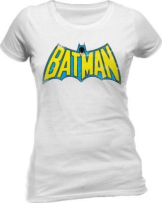 Dc Comics DC Women's Batman Retro Logo Crew Neck Short Sleeve T-Shirt