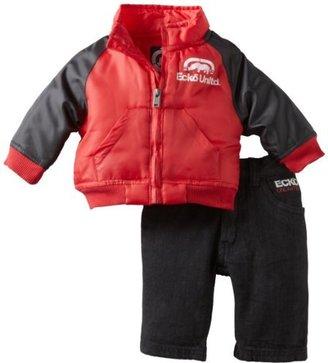 Ecko Unlimited Baby-boys Newborn Jacket Denim Set
