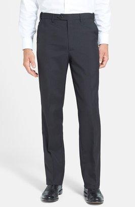 Berle Self Sizer Waist Tropical Weight Flat Front Classic Fit Dress Pants