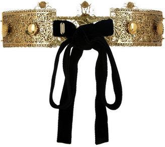 Dolce & Gabbana Gold-plated Swarovski crystal crown